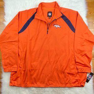 Denver Broncos Men's Embroidered Track Jacket 5XL